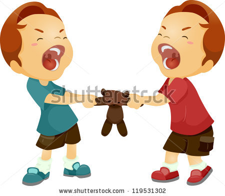Kids Fighting Stock Images, Royalty.