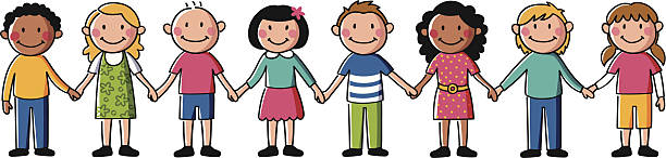 Clipart Kids Holding Hands.