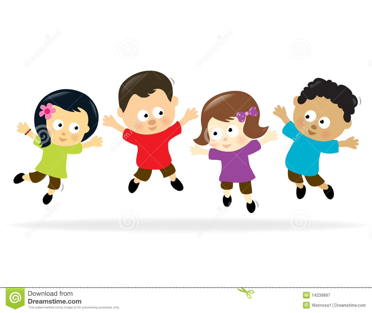 Kids jumping clipart 3 » Clipart Station.