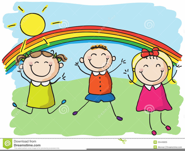 Free Clipart Of Children Laughing.