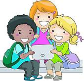 Clipart of Kids Learning Astronomy k20247771.