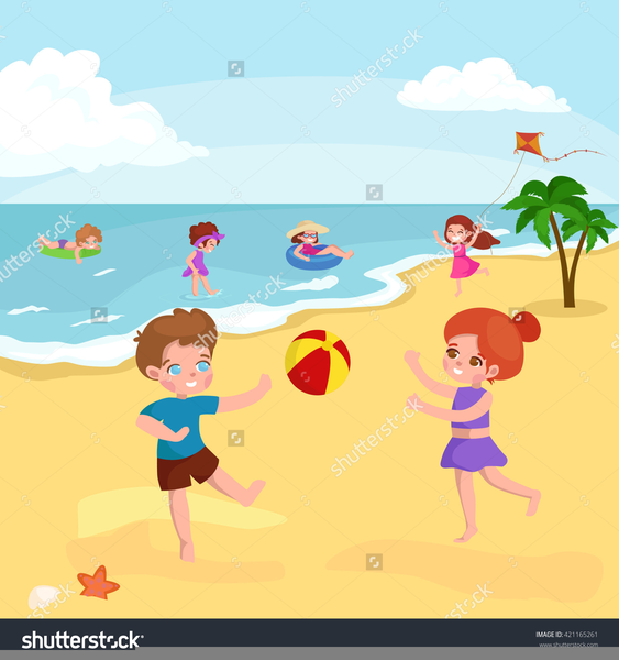 Free Clipart Kids Playing In Water.