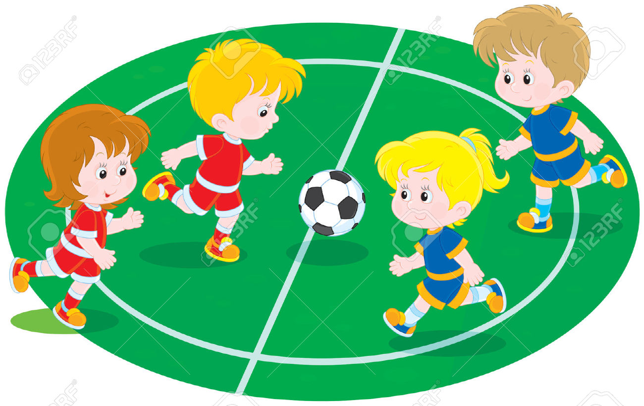 1,117 Children Playing Football Stock Vector Illustration And.
