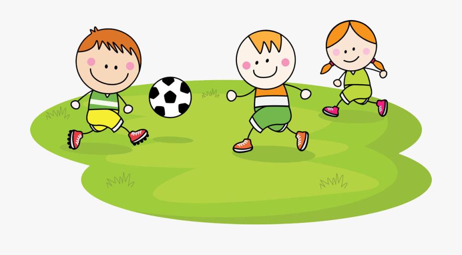 Children Playing Football Clipart.