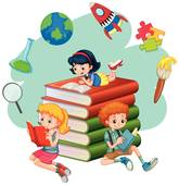 Clipart Kids Reading Books & Free Clip Art Images #28177.