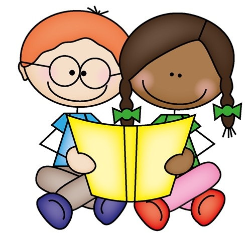 Kids Reading Clipart Two Kids Reading Together Clipart Partner.