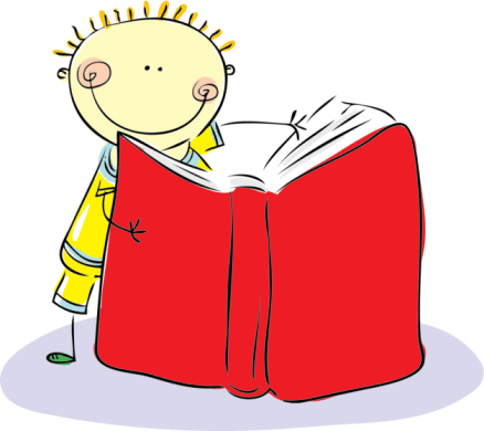 Cartoon Pictures Of Children Reading.