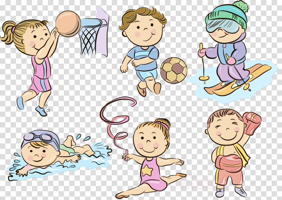 cartoon child clip art playing with kids sharing clipart.
