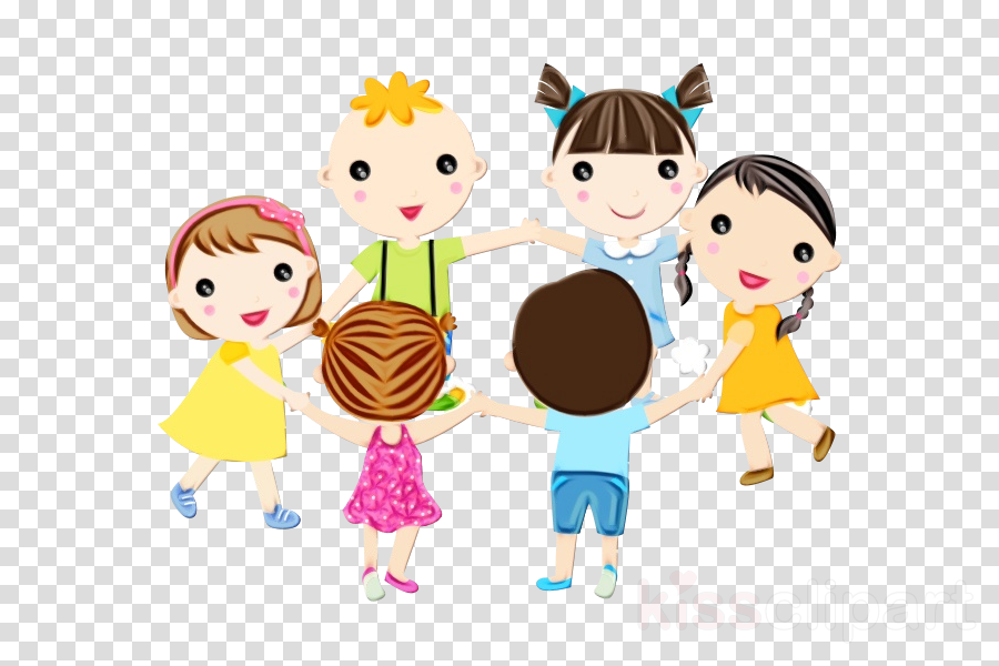 cartoon sharing child clip art playing with kids clipart.
