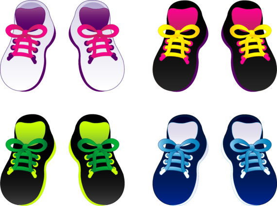 Free Clip art of Tennis Shoes Clipart #3577 Best Clipart Tennis.