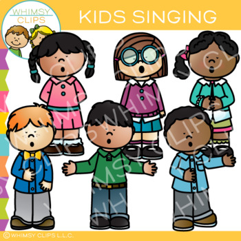 Kids Singing Clip Art.