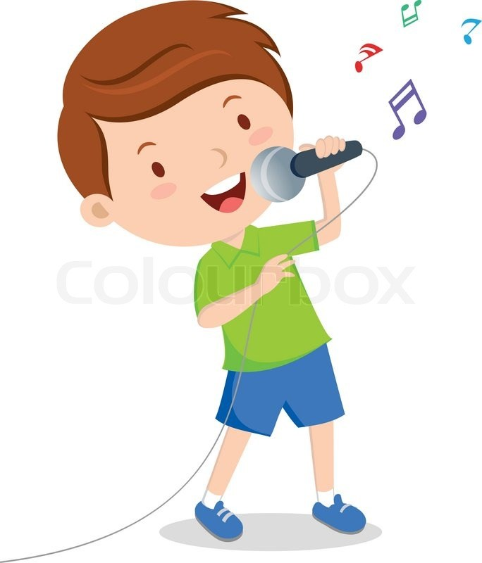 Kids singing with microphone clipart 8 » Clipart Portal.