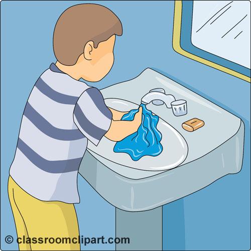 Free Hand Washing Clipart Image.