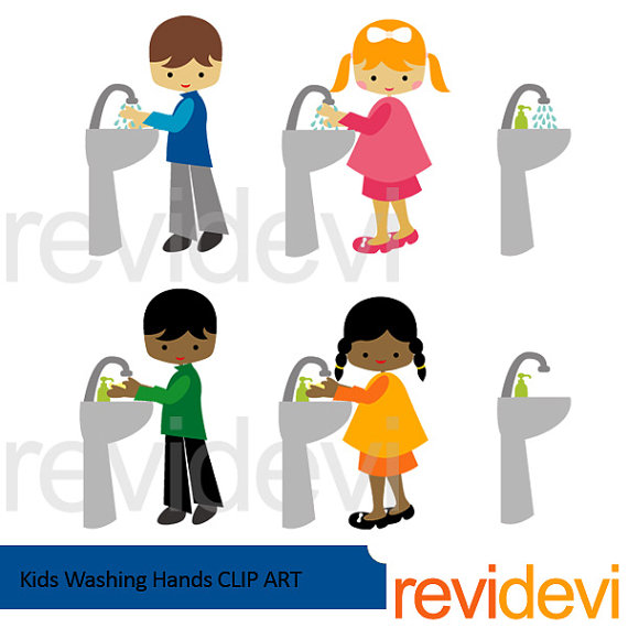 Kids washing hands clipart kids and bathroom sink clipart.