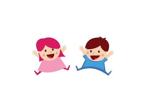 Kids logo Clipart Image.