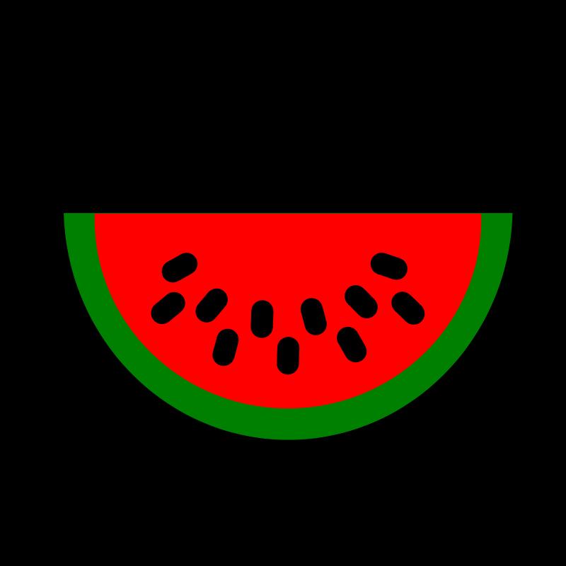 Watermelon clip art for kids.