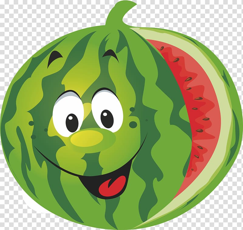 Watermelon , Cartoon watermelon transparent background PNG.