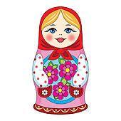 Russische puppe Clipart.