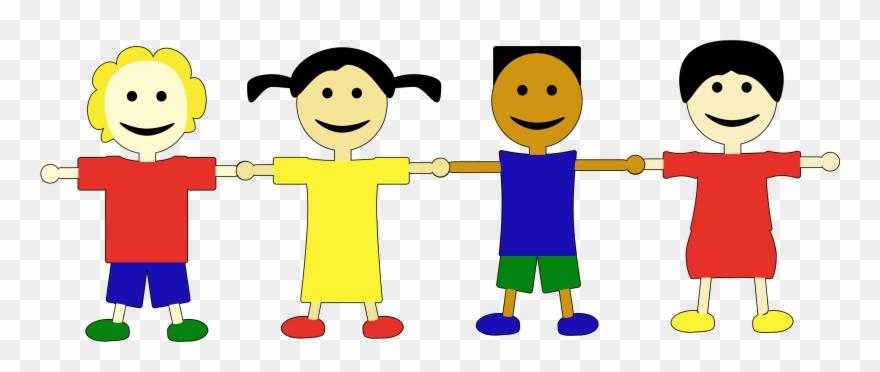Cliparts Kinder Bilder Comic Kindergruppe.