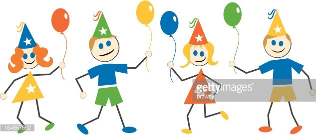 Party Kinder Clipart Image.