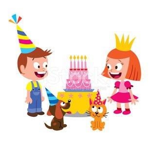 Birthday kids Clipart Image.