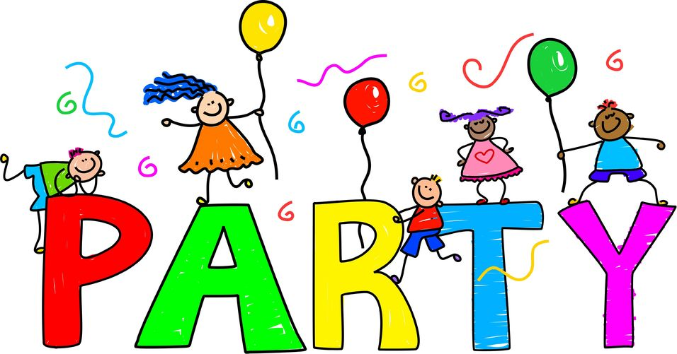 Kids Birthday Party Clipart.