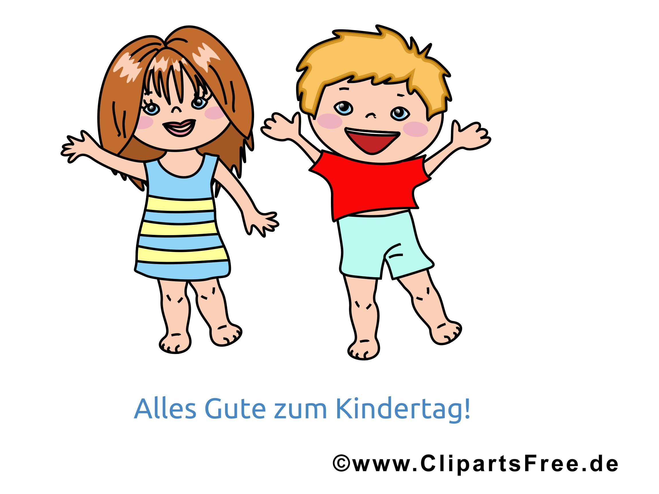Internationaler Kindertag Bild, Grusskarte, Clipart.
