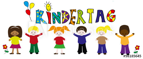 Kindertag Kinderzeichnung Vektor.
