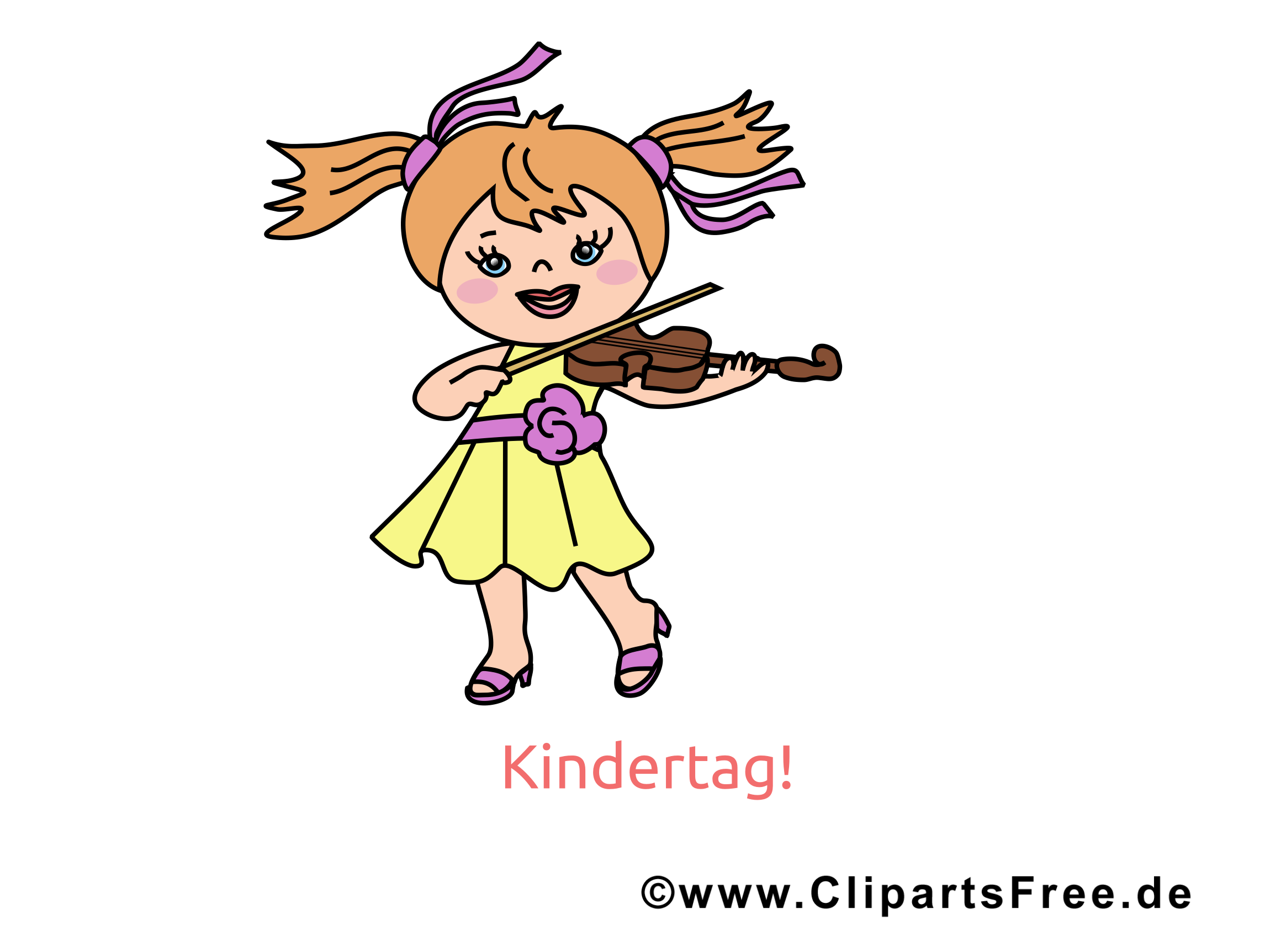 Kindertag Clipart, Bild, Cartoon, Illustration, Zeichnung.