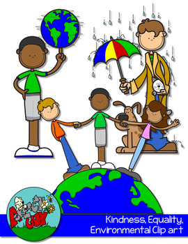 Kindness, Environmental, Equality Clipart FREEBIE.