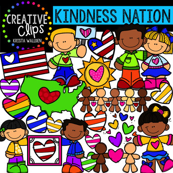 {FREE} Kindness Nation #kindnessnation Clipart {Creative Clips Clipart}.