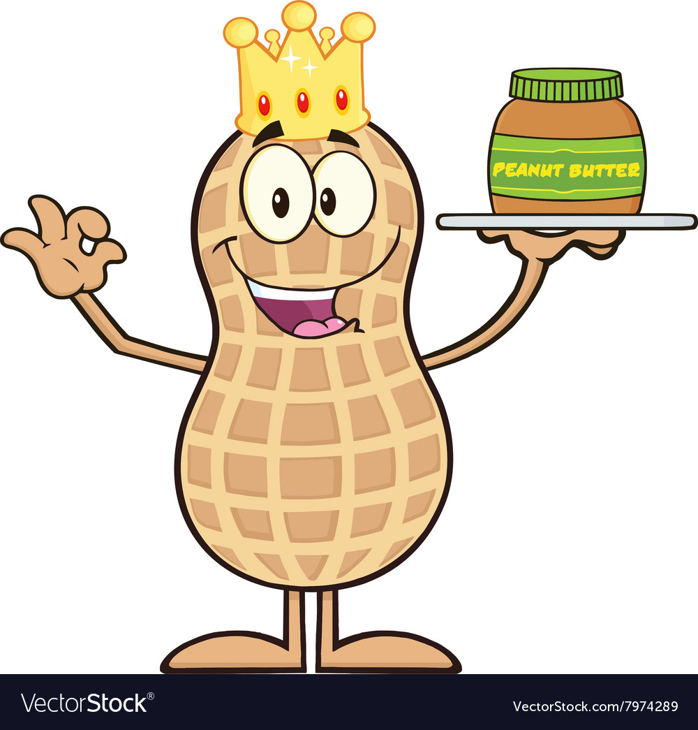 Royalty Free RF Clipart King Peanut Cartoon.