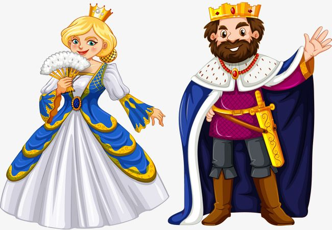 Vector Hand Painted King And Queen, Vector, Hand Painted.