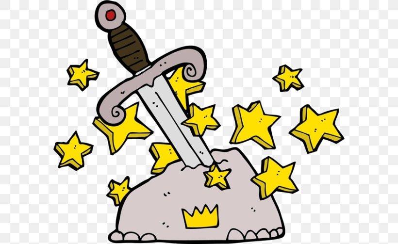 King Arthur Cartoon Magic Sword Royalty.