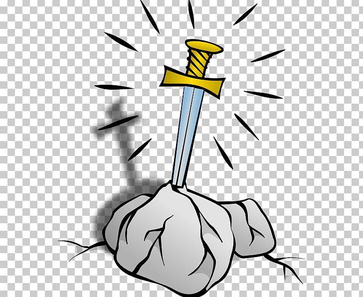 King Arthur Excalibur Sword PNG, Clipart, Art, Artwork, Beak.