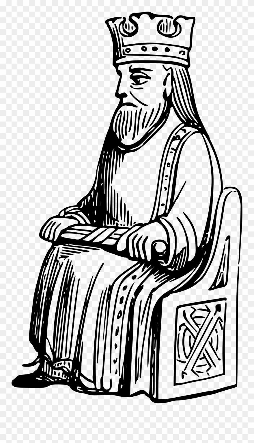 King Clipart Outline.