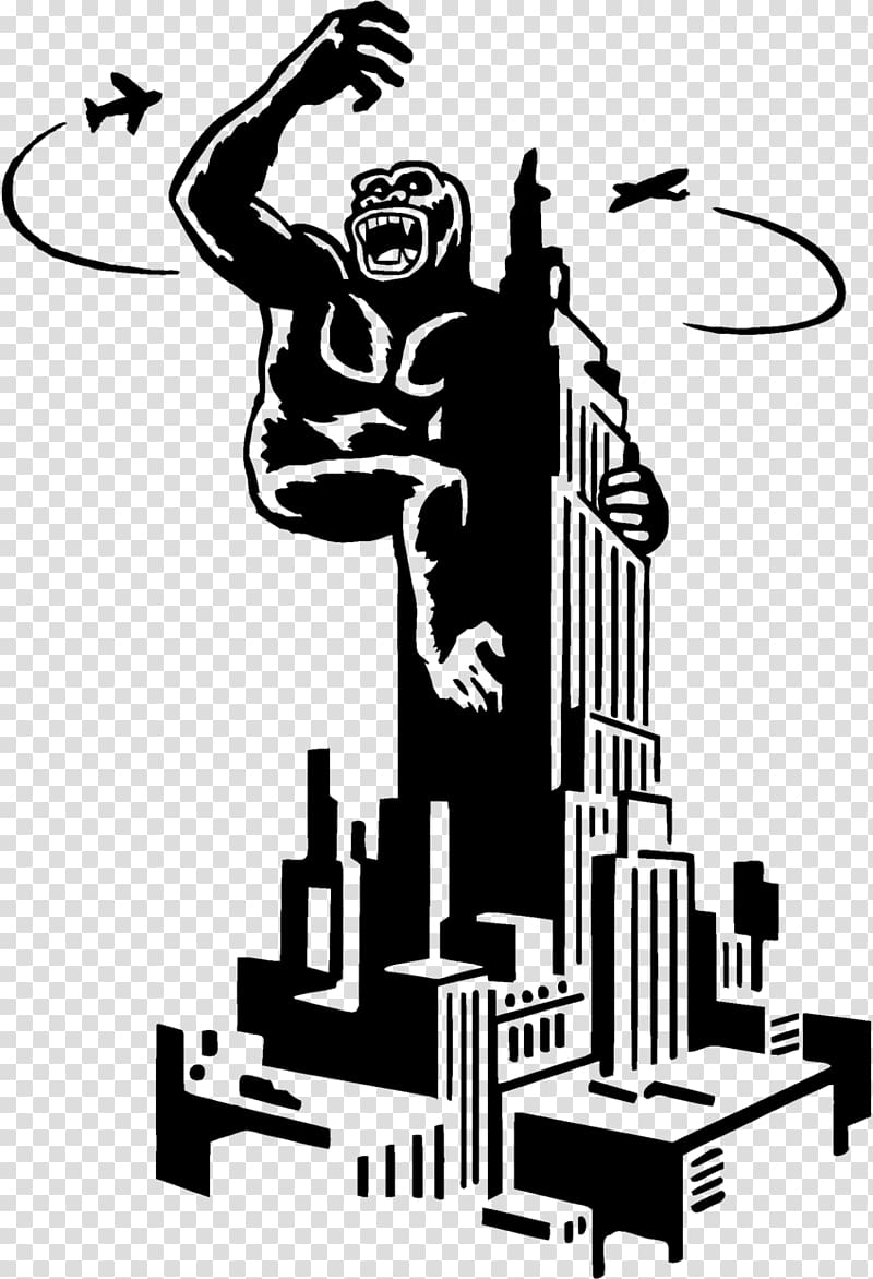 King Kong Ape Drawing, king kong transparent background PNG.
