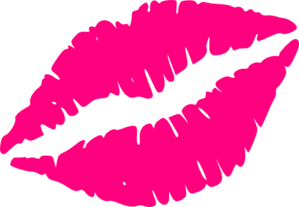 Pink Kiss Mark Clip Art at Clker.com.
