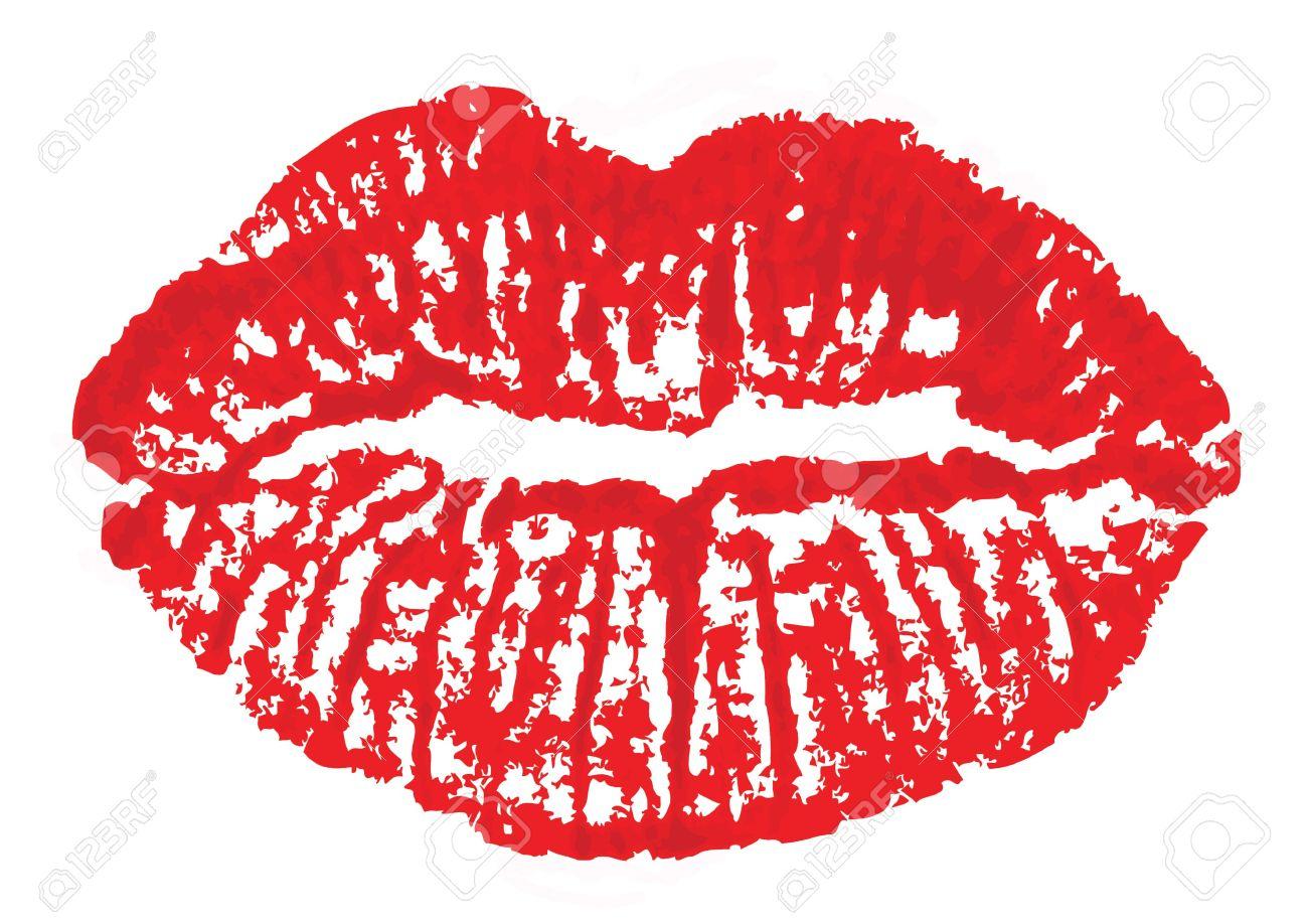 Kiss print clipart.