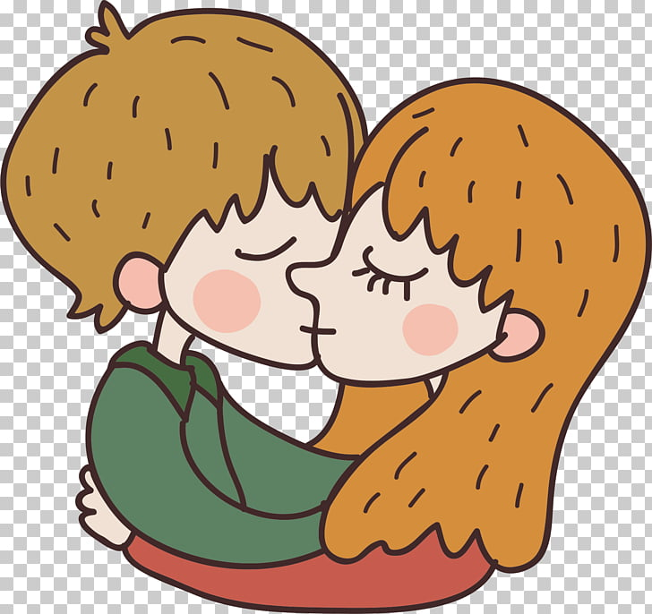 Kiss Romance , Kissing couple PNG clipart.