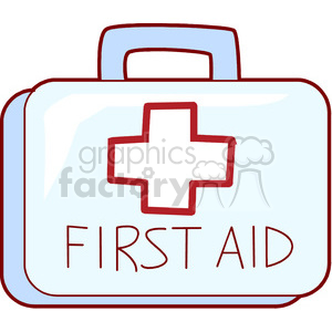first aid kit clipart. Royalty.