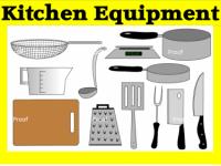 Clip Art Digital File, 'Kitchen Equipment'.