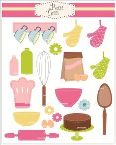 cooking clip art, baking clipart.