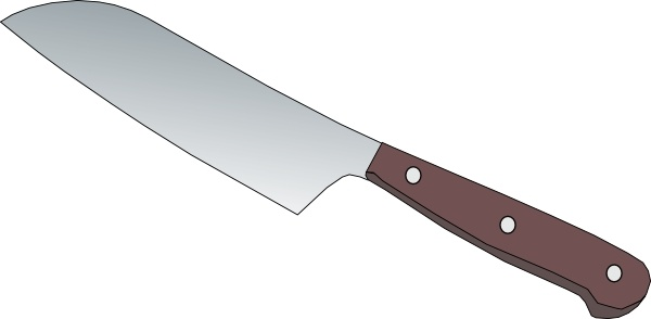 Kitchen Knife clip art Free vector in Open office drawing svg.