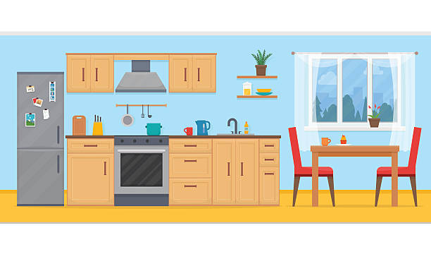 9089 Kitchen free clipart.