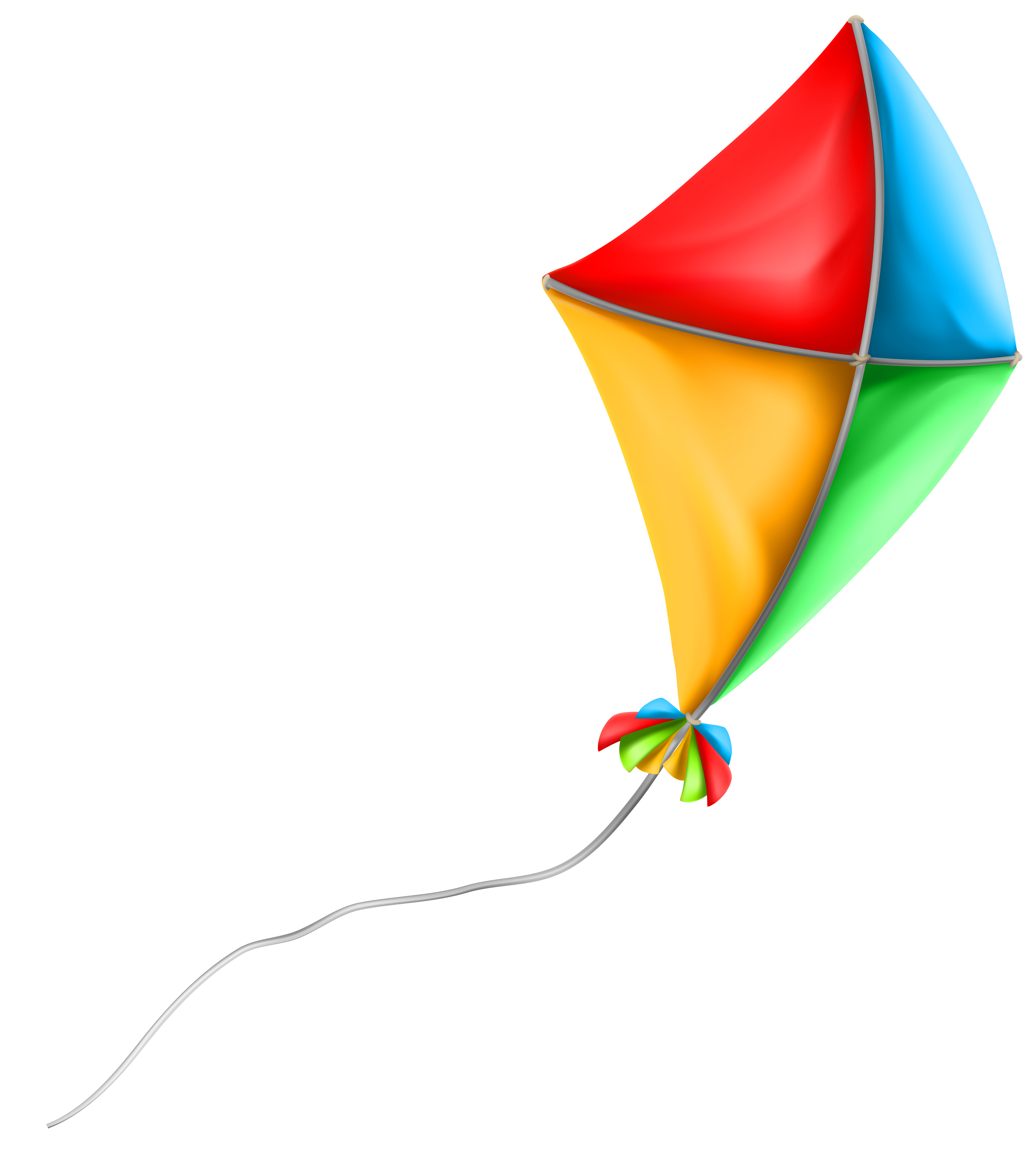 Colorful Kite PNG Clip Art Image.
