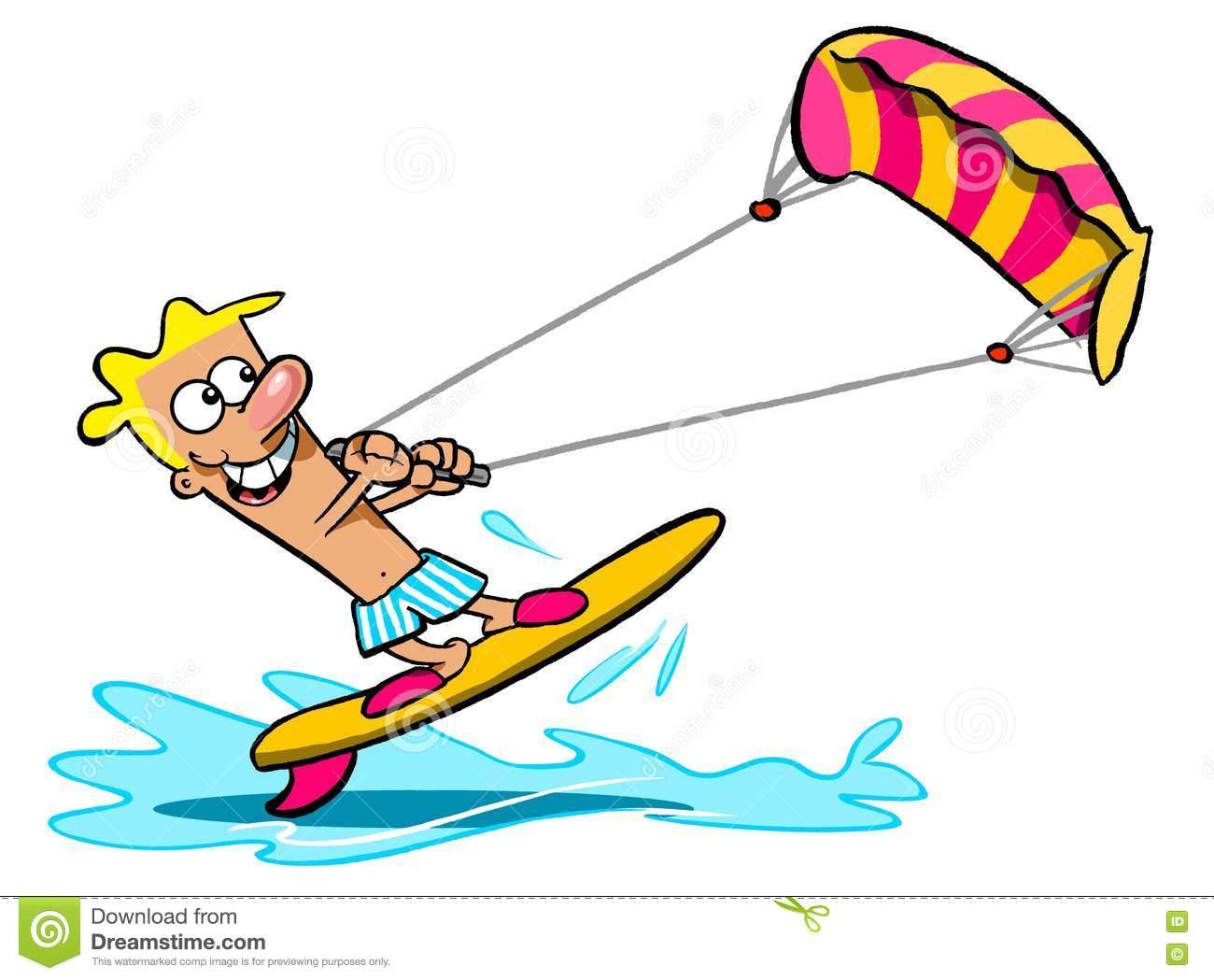 Kite Surfer Clipart.
