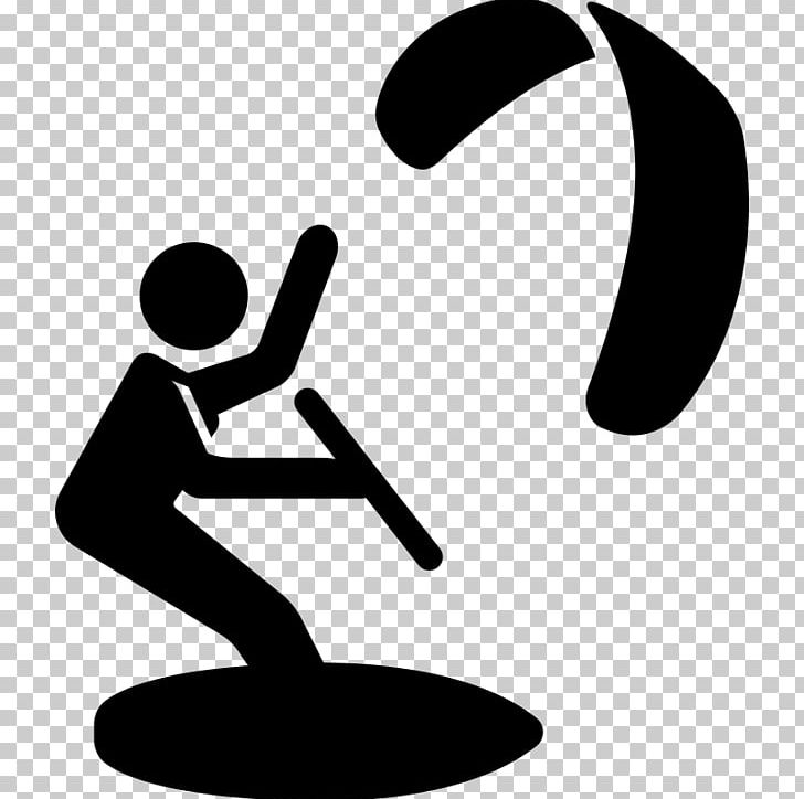 Kitesurfing Sport PNG, Clipart, Black And White, Computer.