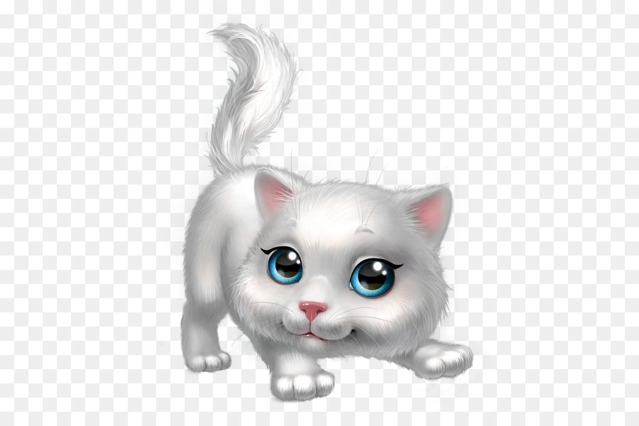 Kitten Cartoon clipart.