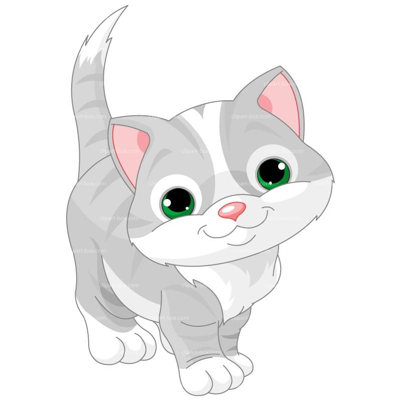 Clipart Baby Cat Royalty Free Vector Design.